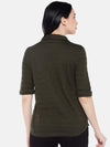 Women's Cotton Green Slim Fit Tshirt Cottonworld Women's Tshirts