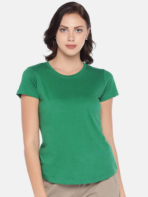 Women's Cotton Knit Emerald Regular Fit Tshirt Cottonworld Women's Tshirts