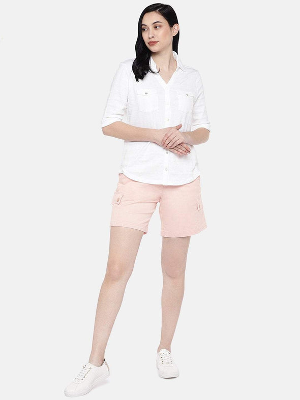 Women's Cotton White Slim Fit Tshirt Cottonworld Women's Tshirts