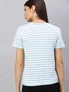 Women's Viscose Elastane Knit Sky Regular Fit Tshirt Cottonworld Women's Tshirts