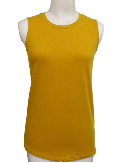 Women's Cotton Mustard Regular Fit Kvest Cottonworld Women's Tshirts