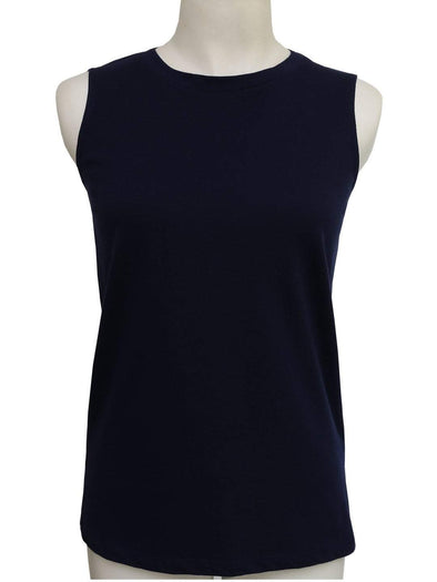 Women's Cotton Navy Regular Fit Kvest Cottonworld Women's Tshirts