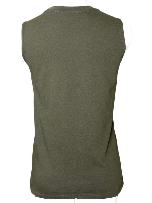Women's Cotton Olive Regular Fit Kvest Cottonworld Women's Tshirts