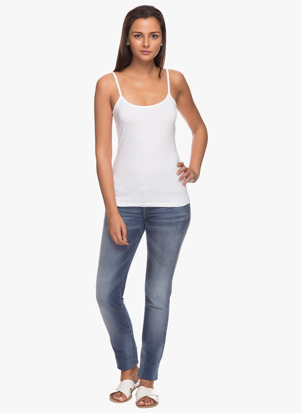 Women's Cotton Elastane White Kvest Cottonworld Women's Tshirts