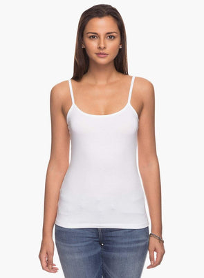 Cottonworld Women's Tshirts XSMALL / WHITE Women's Cotton Elastane White Kvest