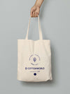 Recycled Printed Natural Coloured Tote Bag - Free size Cottonworld Unisex Bag