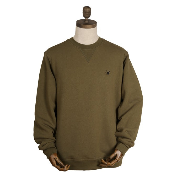 Thinking Anglers Olive Crew Neck