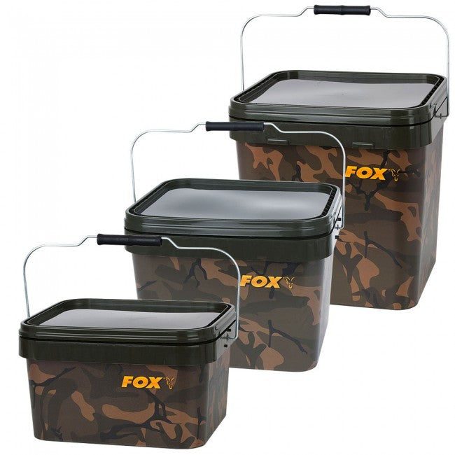 Fox Camo Square Buckets - Vale Royal Angling Centre