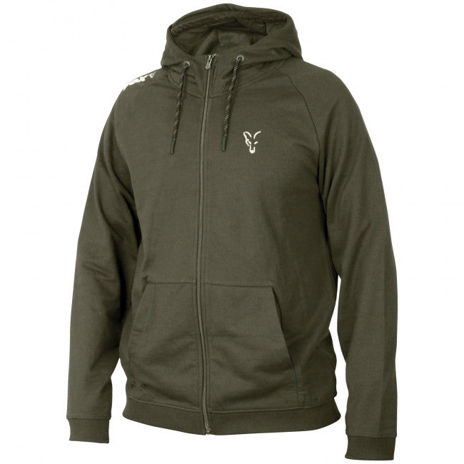 Fox Collection Green Silver Lightweight Hoody - Vale Royal Angling Centre