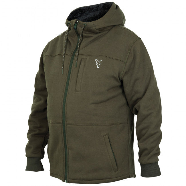 Fox Collection Green Silver Sherpa Hoody - Vale Royal Angling Centre