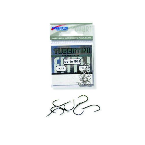 Tubertini Series 801 Nickel Hooks - Vale Royal Angling Centre
