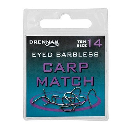 Drennan Eyed Barbless Carp Match