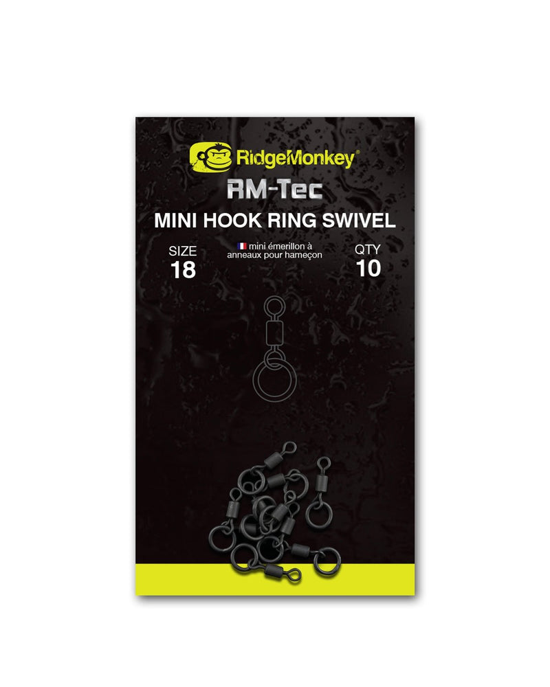 Ridgemonkey RM-Tec Mini Hook Ring Swivel