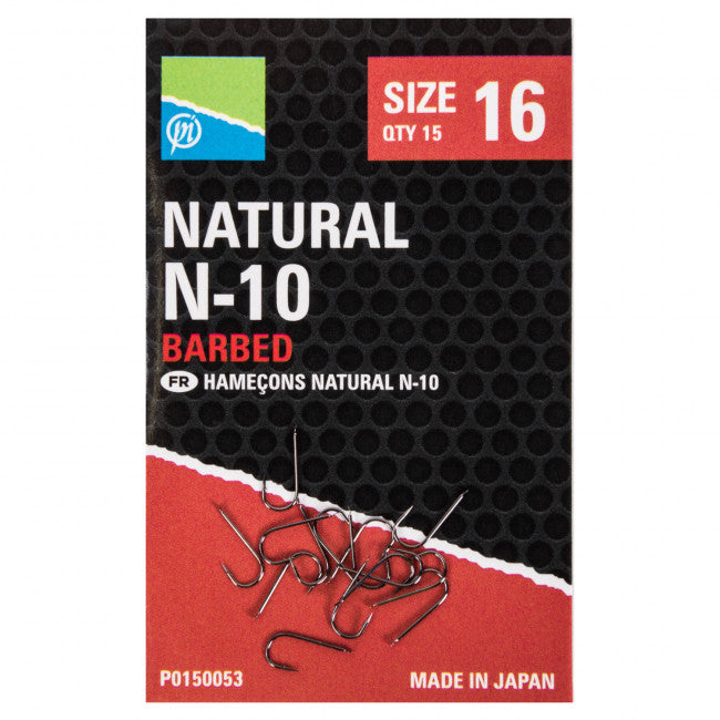 Preston Natural N-10 Hooks - Vale Royal Angling Centre