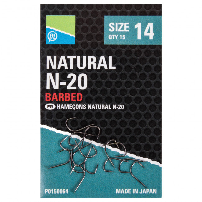 Preston Natural N-20 Hooks - Vale Royal Angling Centre