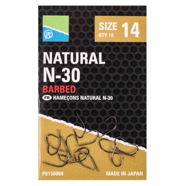 Preston Natural N-30 Hooks - Vale Royal Angling Centre