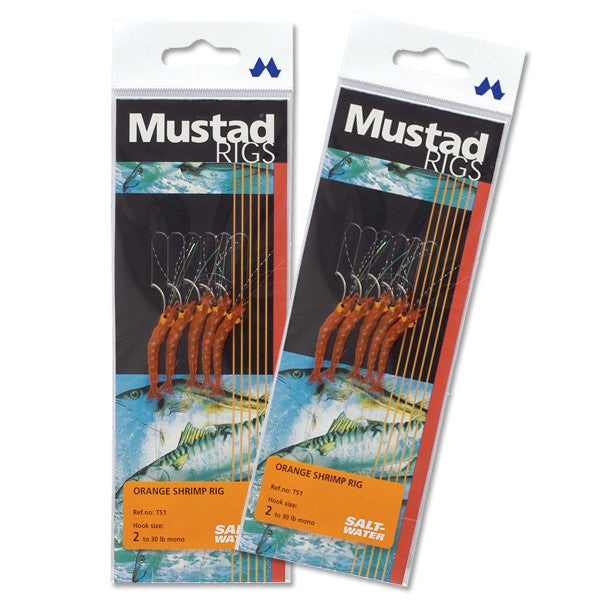Mustad Orange Shrimp Rig