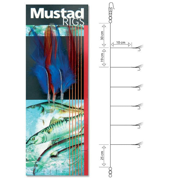 Mustad Makerel Feather Coloured