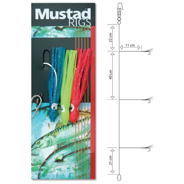 Mustad 3 Hook Wrecking Rig