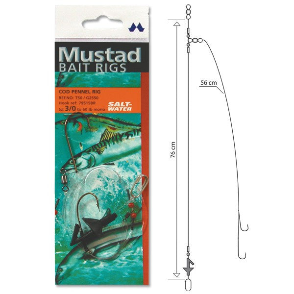 Mustad Cod Pennel Rig - Vale Royal Angling Centre