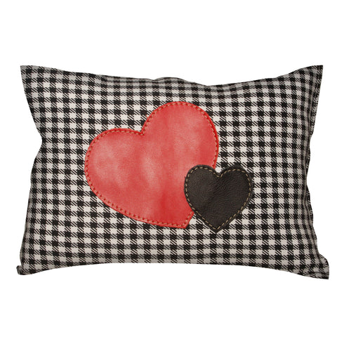 "06 Pillow | ""Hearts on Pied de Poule"""