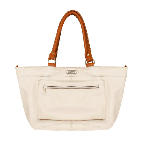 02 Shoulderbag Bolsos | White & Camel