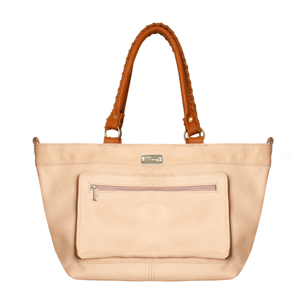 02 Shoulderbag Bolsos | Light Pink & Camel