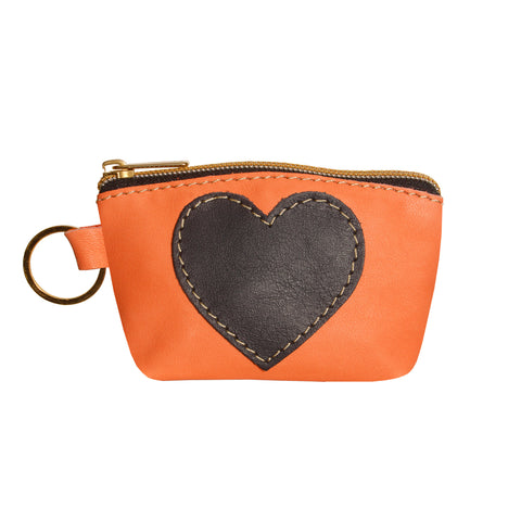 05 HEART PURSE | PINK CORAL AND BLUE