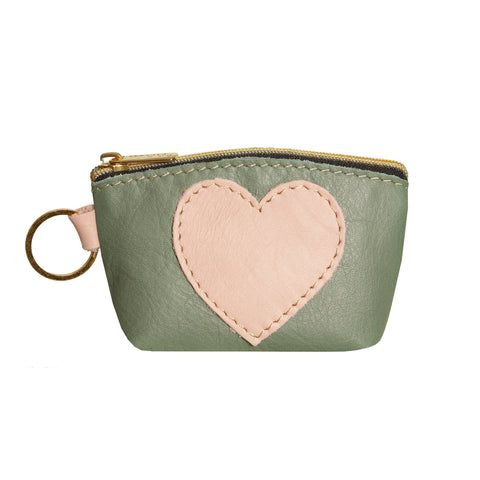 05 HEART PURSE | LIGHT GREEN AND PINK