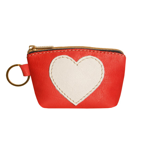 05 HEART PURSE | RED AND WHITE