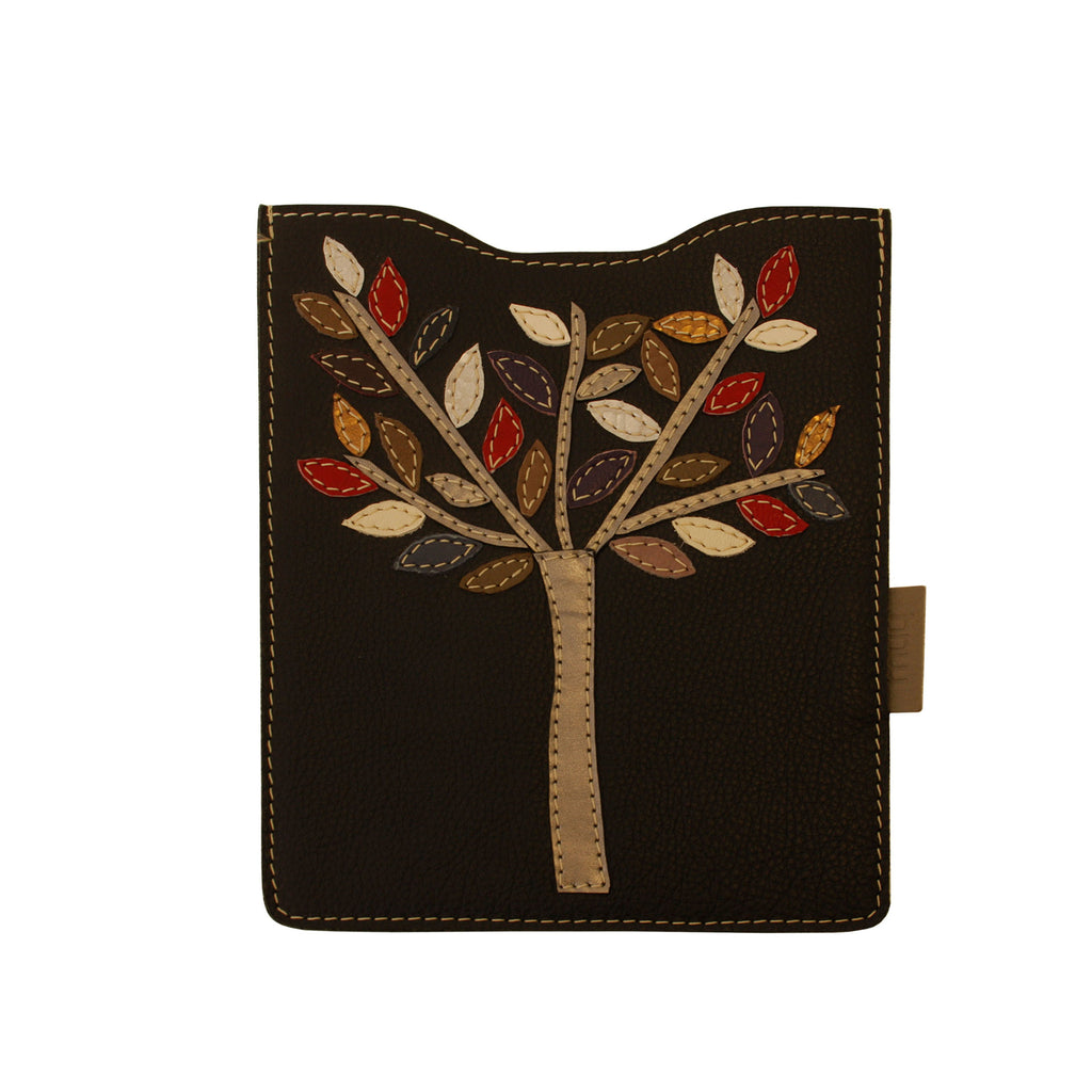 05 IPAD Case | Black w/ Silver Tree