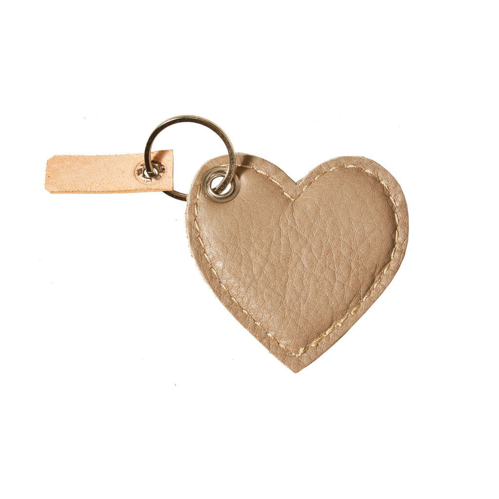 05 Keychain | Leopard & Taupe Heart