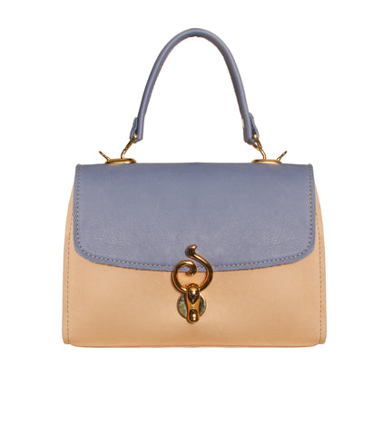 01 Handbag Jackie | Light Blue & Beige