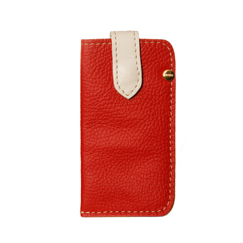 05 CELLPHONE/ Glasses Case | Red and White