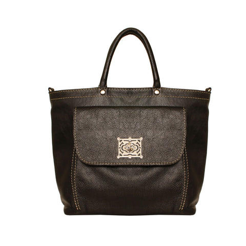 01 Handbag Torniquete Bolso S | Black Leather