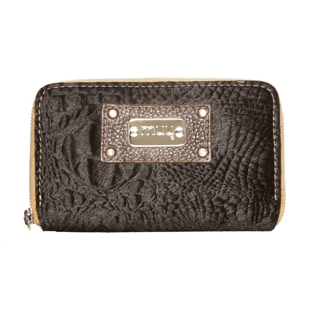 05 Wallet | Black Textured Fur