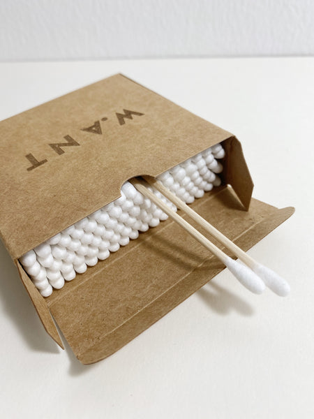 bamboo cotton buds - WANT Skincare
