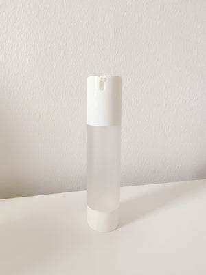 refillable frosted airless pump bottle - WANT Skincare