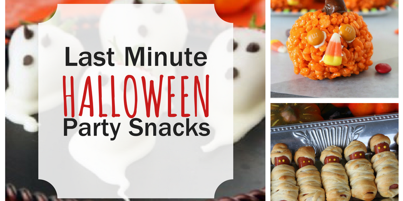 Last Minute Halloween Party Snacks
