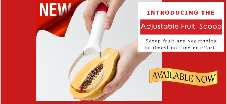 Introducing Our Latest Invention: The Adjustable Fruit Scoop!
