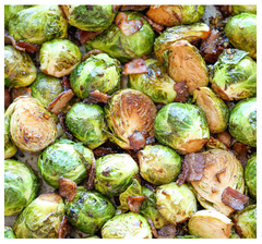 roasted garlic brussel sprouts