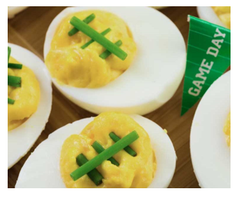 deviled eggs footballs