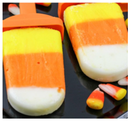 candy corn yogurt pops