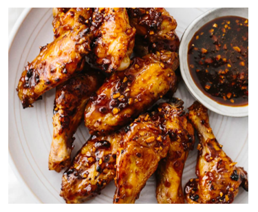 sticky soy garlic wings