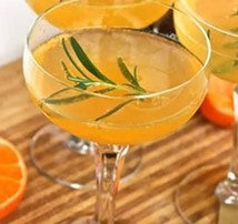 Rosemary & clementine champagne cocktail