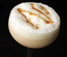 Eggnog with toffee