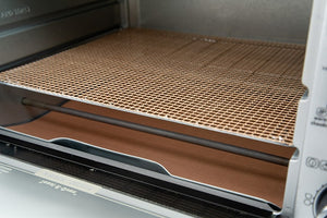 Copper Toaster Oven Crisper & Liner Set