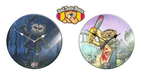 Bad Taste Bears Glass Wall Clocks