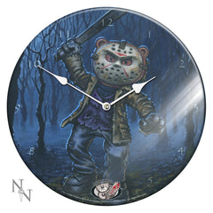 Bad Taste Bears Jason Glass Wall Clock