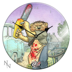 Bad Taste Bears STITCH Round Glass Clock